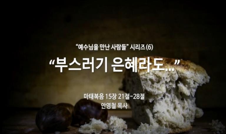 """""""예수님을 만난 사람들"""" 시리즈(6) """" 부스러기 은혜라도… """""""